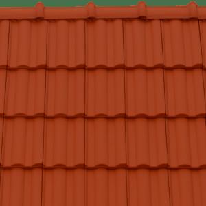 Tondach Twist piros tetőcserép