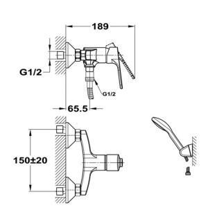 mofém pro zuhany csaptelep 153-1751-00