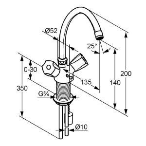 Kludi standard mosdó csaptelep 210600515