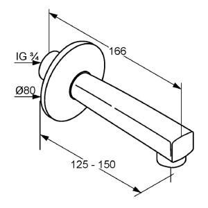 Kludi standard kádtöltő csaptelep 1350205