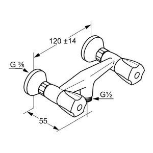 Kludi standard zuhany csaptelep 261010515