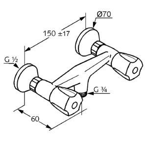 Kludi standard zuhany csaptelep 262020515