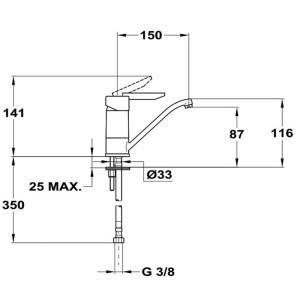 mofém mambo-5 mosdó csaptelep 150-0051-00