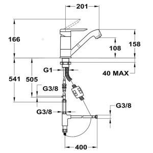 mofém mode mosogató csaptelep 152-0046-20